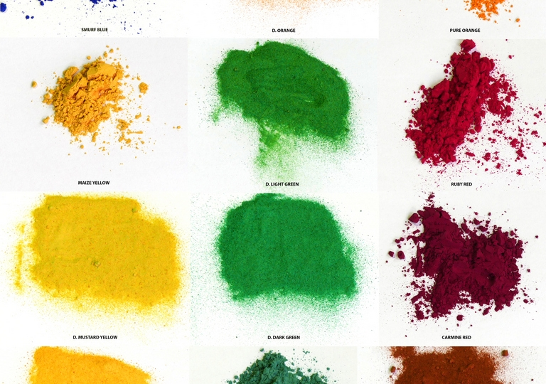 Holi Colour samples